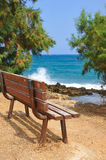 Bench on the beach Royalty Free Stock Images