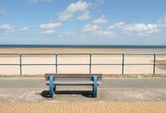 Bench, beach view. Stock Photos