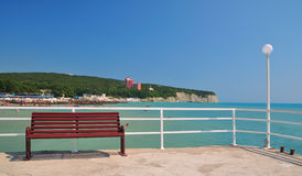 Seaside resort. Black Sea. Divnomorskoe. Russia Stock Photo