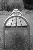 Bench in black & white Royalty Free Stock Photo