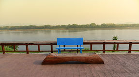 Bench blue Stock Image