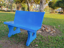bench bluen Royaltyfria Bilder