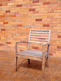 Bench with brick wall Royalty Free Stock Photos