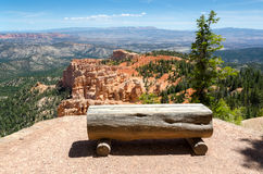 Bench on the Bryce Canyon Stock Image