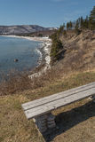 Bench on Cabot Trail Stock Images