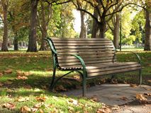 Bench - Carlton Gardens, Melbourne, Australia Royalty Free Stock Photos