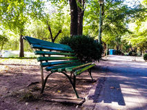 A bench in Carol Park Stock Photography