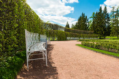 Bench in Catherine Park, Tsarskoye Selo (Pushkin), Stock Images