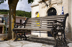 Bench in the Central square Royalty Free Stock Photos