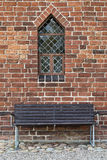 Bench and  Church Window Royalty Free Stock Image
