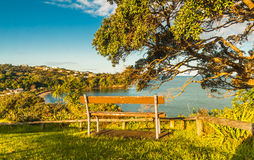 Bench on a cliff Royalty Free Stock Images