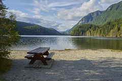 Bench close to the lake Royalty Free Stock Photo