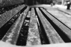 Bench close-up. Royalty Free Stock Image