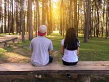 Bench, Countryside, Couple Royalty Free Stock Photo