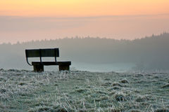 Bench at Dawn Royalty Free Stock Photography