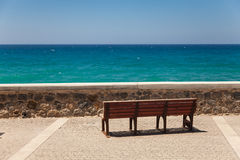 Bench deck with beautiful sea view Stock Image