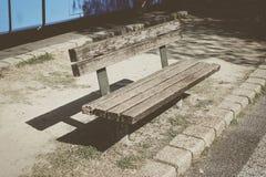 bench den träparken Royaltyfria Foton