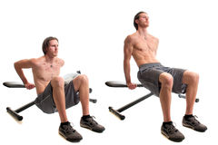 Bench Dip Exercise Stock Photography