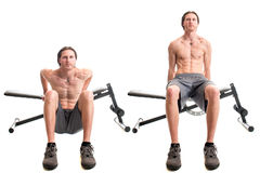 Bench Dip Exercise Royalty Free Stock Photography