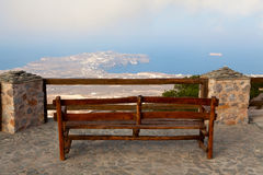 Bench on the edge Royalty Free Stock Image