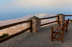 Bench on the edge Royalty Free Stock Images