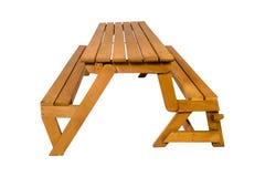 bench En bois des planches et des rondins rugueux Banc rustique image libre de droits