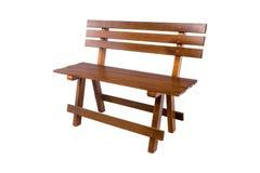 bench En bois des planches et des rondins rugueux Banc rustique photos libres de droits