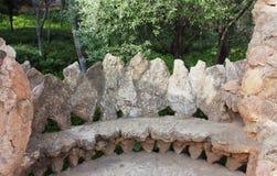 Bench en el parque Guell, diseñado por Antonio Gaudi, Barcelona españa Imágenes de archivo libres de regalías