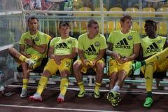 bench FC Kuban durante o fósforo contra FC Krasnodar Imagem de Stock Royalty Free