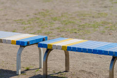 Bench on Field Royalty Free Stock Photo