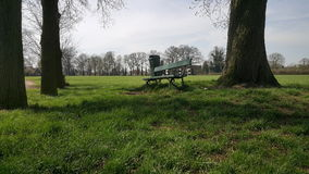 Bench in a Field Royalty Free Stock Photography