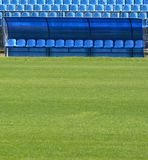 Bench for football reserves Stock Images