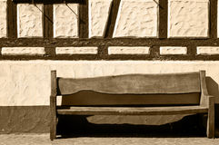 Bench with frame house Stock Photos