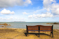 Bench in front of Sea Royalty Free Stock Images