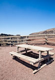 Bench in front Vesuvius crater Stock Image