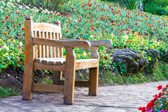 Bench garden Royalty Free Stock Photo