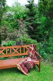 Bench in garden Stock Photography