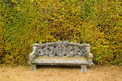 Bench Garden Background Stock Photography