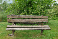 Bench in a garden Royalty Free Stock Photography