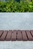 Bench in the garden. Stock Image