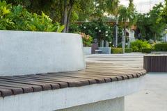 Bench in the garden. Stock Photo