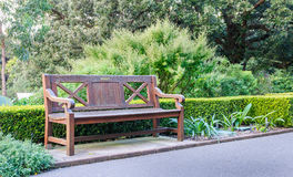 Bench in the garden Royalty Free Stock Photography