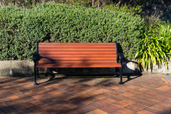 Bench in the garden. Park landscape royalty free stock images
