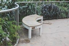 Bench in garden Stock Photography