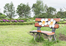 Bench at garden Royalty Free Stock Photography