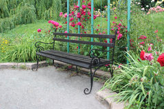 Bench in the garden Stock Image