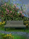 Bench in the garden Stock Photos