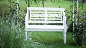 Bench in garden Stock Image