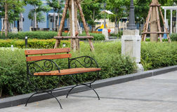 Bench in the garden Royalty Free Stock Image