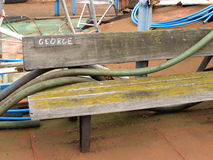 A bench for George Royalty Free Stock Photography